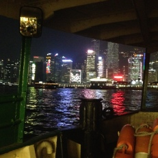 The view from the Star Ferry on my evening commute.